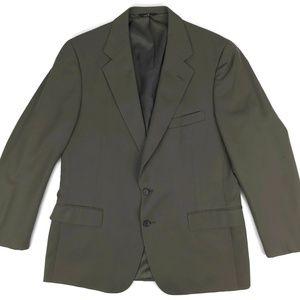 Polo University Club Wool Suit Jacket Brown Sz 43R